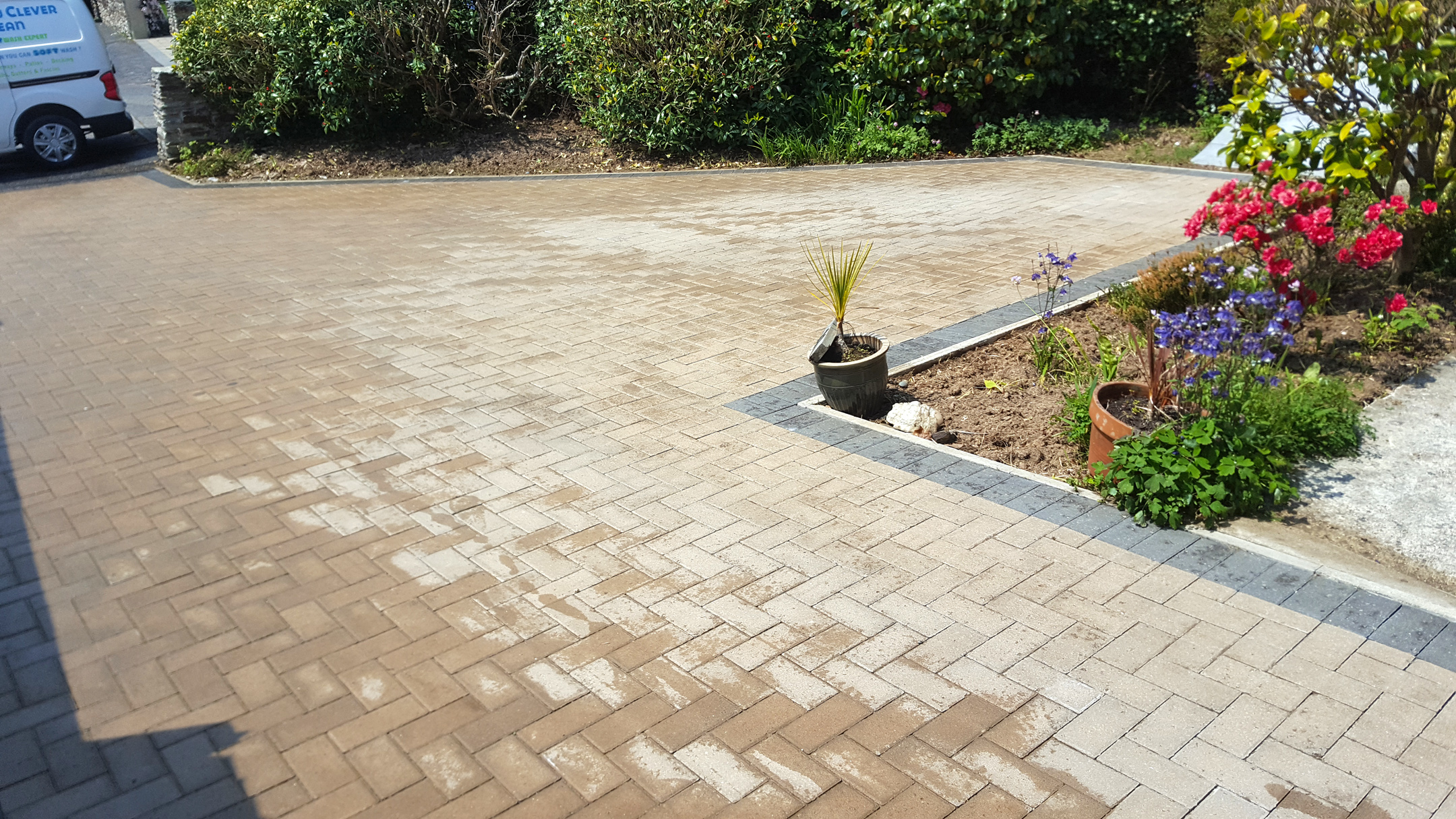 Block Paved Driveway Cleaning (After)
