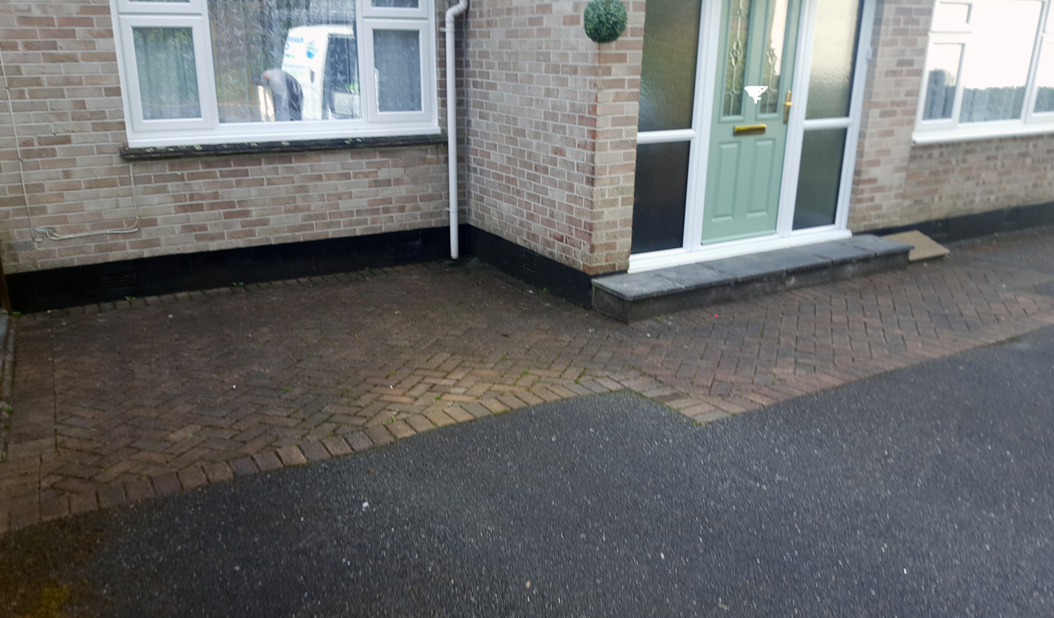 Block Paving In Need Of Cleaning